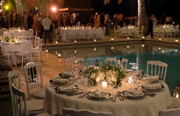 Traiteur ksar char bagh piscine salle de mariage au maroc - Deco autour de la piscine ...